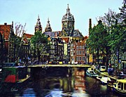 Amsterdam Digital Art - The Water Way Amsterdam by Dmt