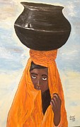 Carrier Painting Originals - The Watercarrier by Darrell Hughes