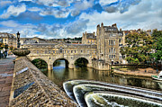Pulteney Bridge Framed Prints - The Waters of Sulis Framed Print by Lanis Rossi