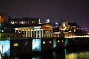 Art Museum Prints - The Waterworks at Night Print by Bill Cannon