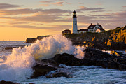 New England Lighthouse Prints - The Wave Print by Benjamin Williamson