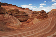 Sandstone Formation Photos - The Wave Center Of The Universe by Bob Christopher