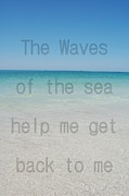 Panama City Beach Prints - The Waves of the Sea Print by May Photography