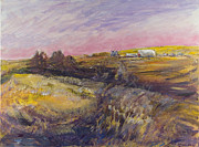 Farm Fields Paintings - The Way Home by Helen Campbell