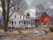 Farm House Paintings - The Way It Used to Be by Chuck Pinson