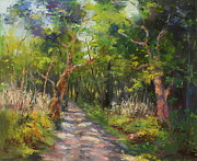 Trees Paintings - The Way by Marie Green