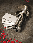 Poker Posters - The Way of the Gun Poster by Mike McGlothlen