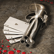 Poker Posters - The Way of the Gun Part 2 Poster by Mike McGlothlen