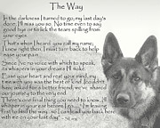 Dog Paw Print Posters - The Way Poster by Sue Long