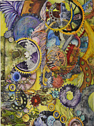Cogs Paintings - The way things work 1 by Sherry Ross