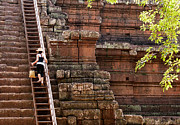 Angkor Thom Prints - The Way Up Print by Rick Piper Photography