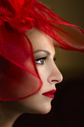 Red Woman Prints - The Way You Look Tonight Print by Evelina Kremsdorf