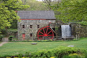 Wayside Inn Grist Mill Framed Prints - The Wayside Inn Grist Mill Framed Print by Dawn Puliafico