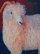 Barnyard Animal Pastels Posters - The Weavers Pet Poster by Becky Roesler