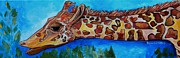 Zoo Animals Paintings - The Wedding Giraffe by Patti Schermerhorn