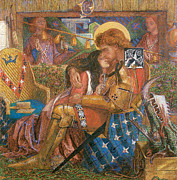 Rossetti Metal Prints - The Wedding of St George and the Princess Sabra Metal Print by Dante Gabriel Rossetti