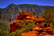 Sandstone Canyons Photos - The Wedding Rock in Sedona by David Patterson