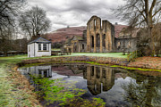 Pond Reflection Prints - The Welsh Abbey Print by Adrian Evans