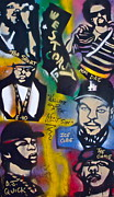 Stencil Art Paintings - The West Side  by Tony B Conscious