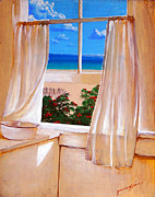 Interior Still Life Paintings - The West Window by Robert Wilson