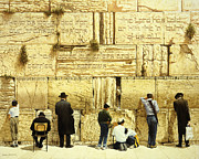 Inspirational Paintings - The Western Wall  Jerusalem by Graham Braddock