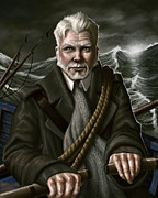 Stormy Digital Art Posters - The Whaler Poster by Mark Zelmer