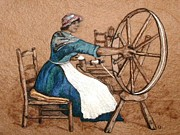 Needle Tapestries - Textiles Originals - The Wheel by Bonnie Nash