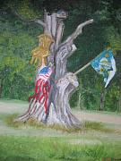 Fourth Of July Painting Framed Prints - The Whimsical Tree Framed Print by Brenda Mullaney