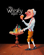 Johnny Trippick Framed Prints - The Whisky Expert Framed Print by Johnny Trippick