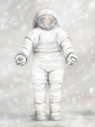 Astronomical Art Digital Art - The White Astronaut by Tharsis  Artworks