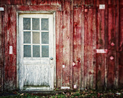 Lisa Russo Photos - The White Barn Door by Lisa Russo