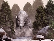 Bison Art - The White Buffalo by Daniel Eskridge