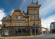 City Photography Digital Art - The White Hart Pub by Donald Davis