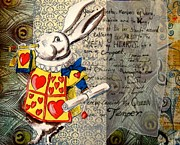 Mad Hatter Prints - The White Rabbit Print by Sabrina Phillips