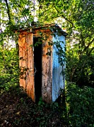 Outhouses Acrylic Prints - The White River Privy Council Acrylic Print by Julie Dant