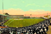 Baseball Stadiums Framed Prints - The White Sox Southside Baseball Park In Chicago Il In 1913 Framed Print by Dwight Goss