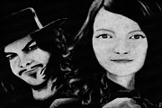 Meg White Prints - The White Stripes Print by Jeffcoat Art