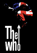 Red Guitar Framed Prints - The Who No.01 Framed Print by Caio Caldas