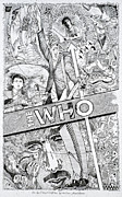 Bus Roll Drawings - The WHO rock n roll baby by Lance E Graves