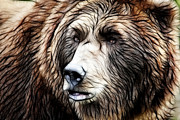 Kodiak Prints - The Wild One Print by Athena Mckinzie