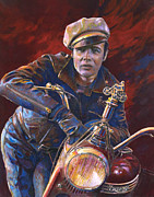 Motorcycle Pastels - The Wild One by Dale Lewis
