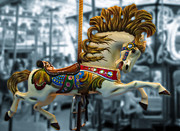 Amusements Art - The Wild Stallion by Colleen Kammerer