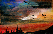 Canadian Geese Mixed Media - The Wilds by R Kyllo