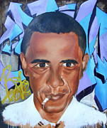 Obama Paintings - The Will by Desiree Kelly