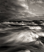 Maine Metal Prints - The wind and the sea Metal Print by Bob Orsillo