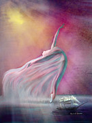 Lobby Art Paintings - The Wind Fairy by Angela A Stanton