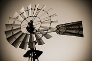 Del Rio Tx Prints - The Windmill Print by Amber Kresge