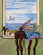 Chess Piece Painting Posters - The window has a view Poster by Susan Culver