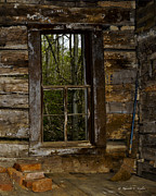 Cabin Window Photo Originals - The Window by Rhonda Taylor