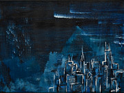 Chicago Bears Paintings - The Windy City by Rafay Zafer